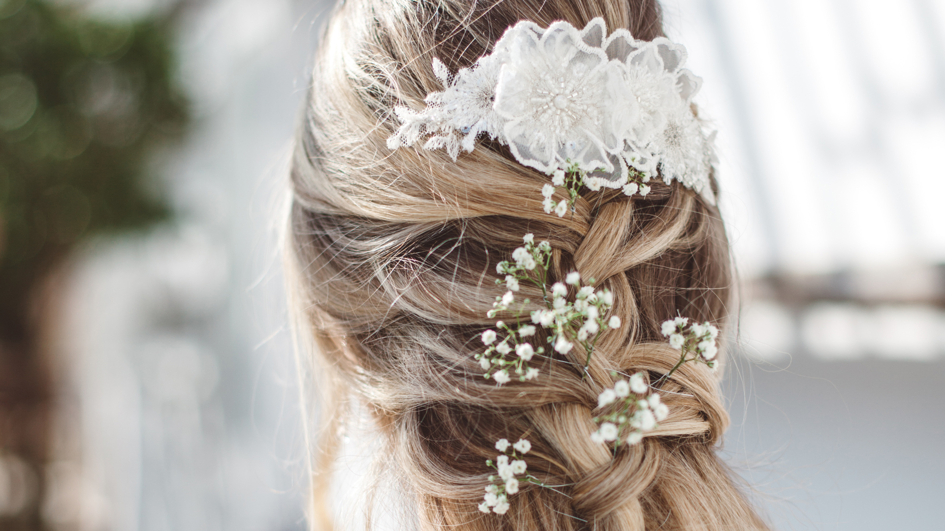 Blonde White Flower and Lace