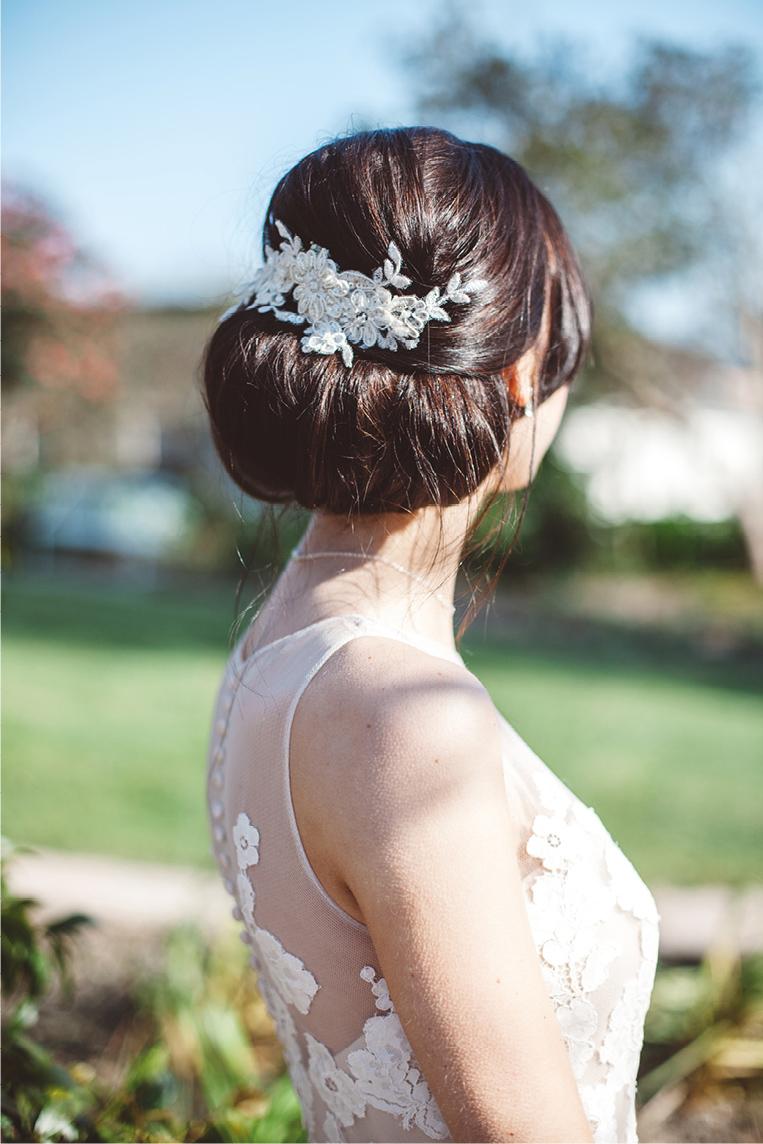 Wedding Hair Styling Brunette