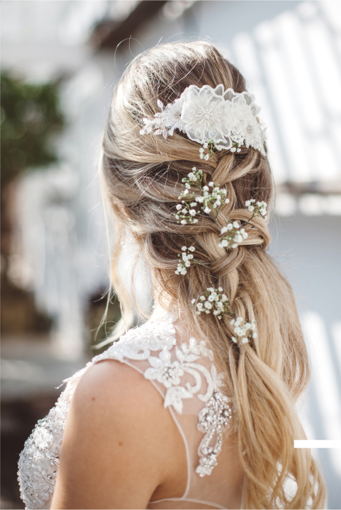 Wedding Hair Styling Forget Me Nots
