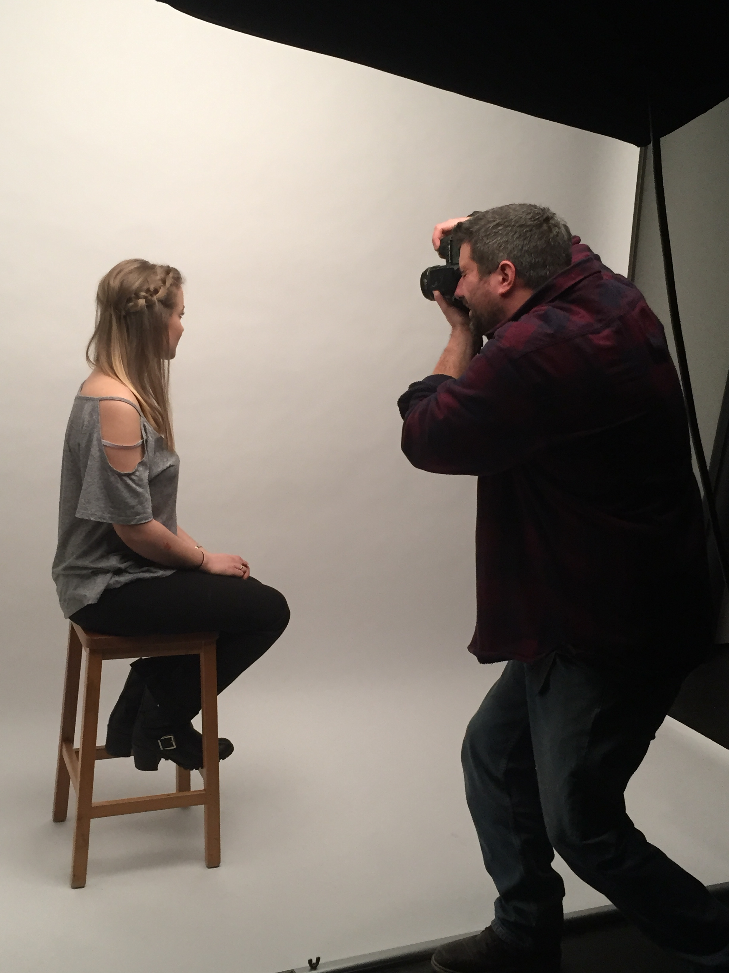 Photo shoot at Truro College